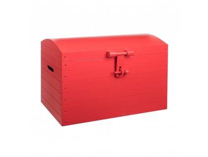 Dřevěná truhla červená