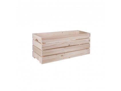 Dřevěná bedýnka 60 x 22 x 24 cm