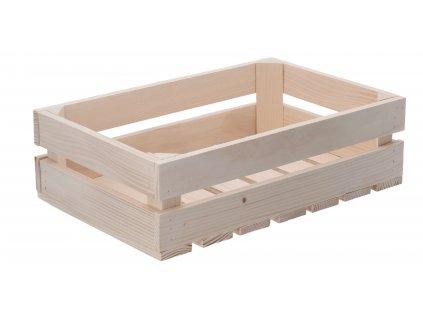 Dřevěná bedýnka 40 x 26 x 12 cm
