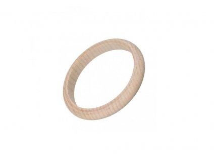 Dřevěný náramek zakulacený 1 cm