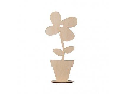 Dřevěná ozdobná květina