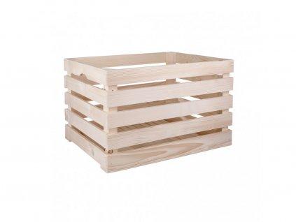 Dřevěná bedýnka 52 x 33 x 32 cm