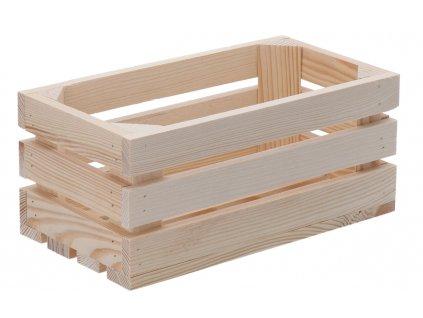 Dřevěná bedýnka 28 x 15 x 12 cm II
