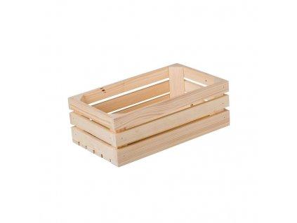 Dřevěná bedýnka 34 x 20 x 12 cm II