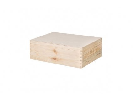 Dřevěný box s víkem 40X30X14 CM bez rukojeti