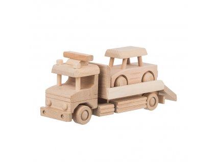 Dřevěná odtahovka s autíčkem