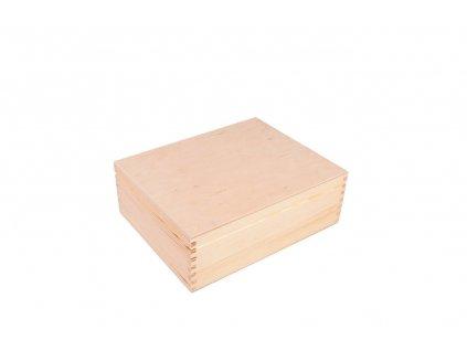 Dřevěná krabička s pořadačem