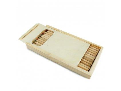Dřevěné pastelky - sada 12ks