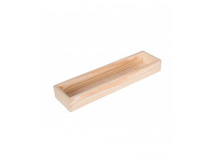 Dřevěný box 43x11 cm