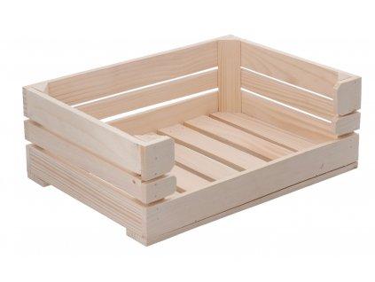 Dřevěná bedýnka otevřená 42 x 30 x 15 cm
