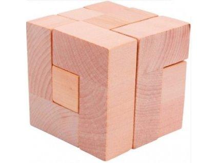Dřevěné hlavolamy set - 4 ks