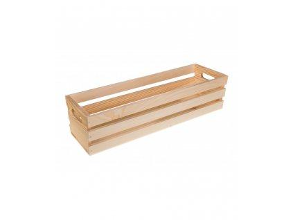 Dřevěná bedýnka květináč - 50cm