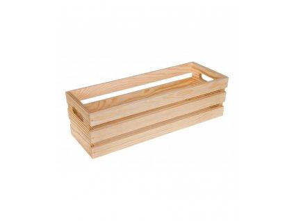 Dřevěná bedýnka květináč - 40cm