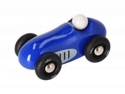 Dřevěné sportovní auto mini - modré