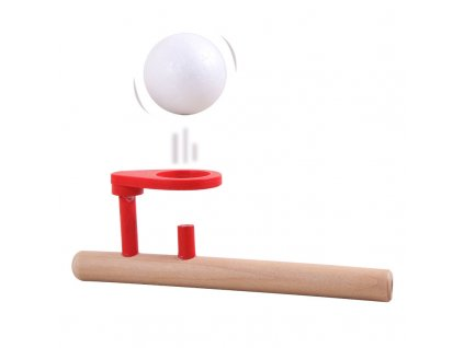 Dřevěná hra - foukání balónku