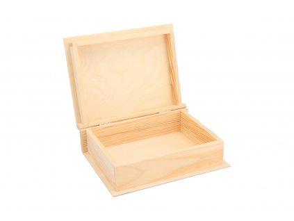 Dřevěná krabička kniha