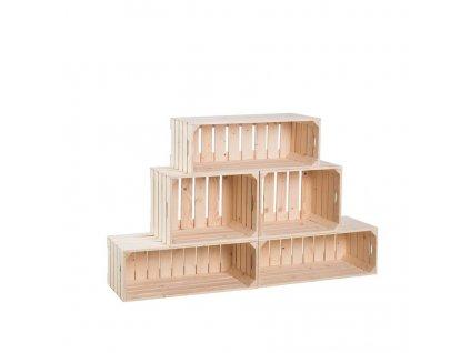 Dřevěné bedýnky knihovna 74 x 120 x 30 cm
