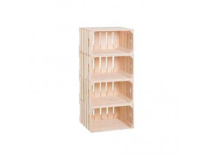 Dřevěné bedýnky regál 88 x 40 x 30 cm