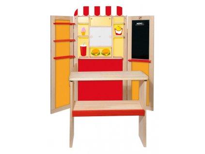Dřevěná kombinovaná dětská prodejna / pošta