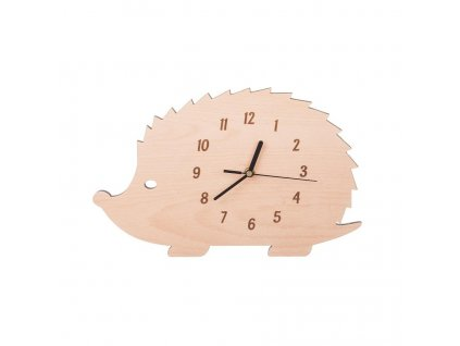 Nástěnné hodiny přírodní - ježek