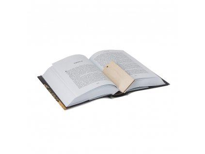 Dřevěná záložka do knihy