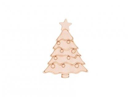 Dřevěný vánoční stromeček 10 x 7,5 cm