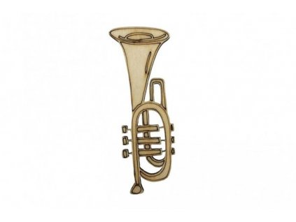 Dřevěná trumpeta 9 x 3,5 cm
