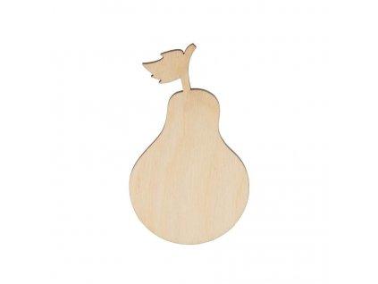 Dřevěná hruška 8 x 5 cm