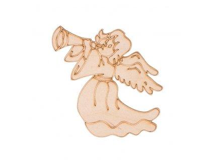 Dřevěný vánoční anděl I 7,5 x 10 cm