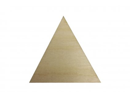 Dřevěný trojúhelník 6 x 6,5 cm
