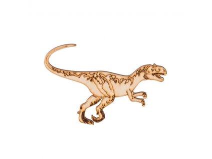 Dřevěný dinosaurus III 6,5 x 10 cm