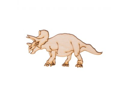 Dřevěný dinosaurus IV 5 x 10 cm