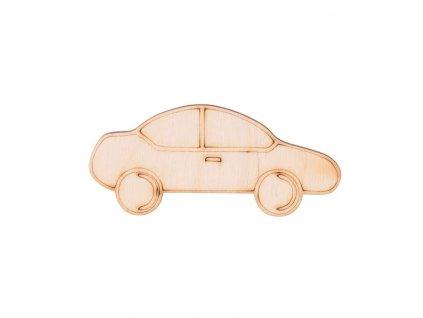 Dřevěné auto 3,5 x 8 cm