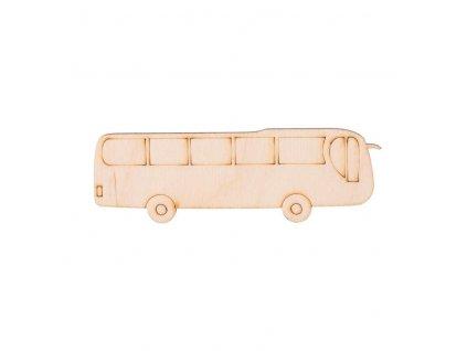 Dřevěný autobus 3,5 x 11 cm
