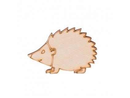 Dřevěný ježek 4.5 x 6 cm