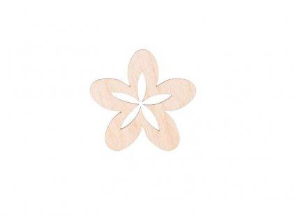 Dřevěná květina II 6 cm