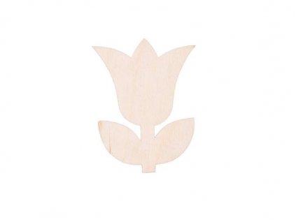 Dřevěná květina III 8 x 6 cm