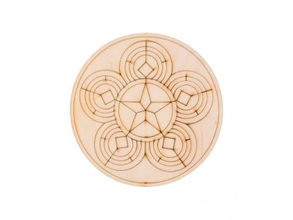 Dřevěná mandala III