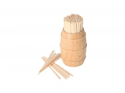 Dřevěný soudek s párátky