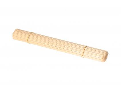 Dřevěné špejle 30 cm hrocené - 100 ks