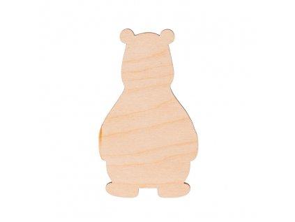 Dřevěný medvěd 10 x 6 cm