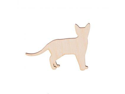 Dřevěná kočka 8 x 6 cm