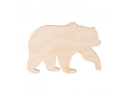 Dřevěný medvěd 11 x 7 cm