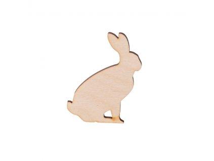 Dřevěný zajíc 6 x 5 cm