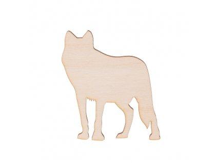 Dřevěný vlk 8 x 7 cm