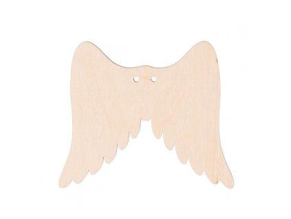 Dřevěná andělská křídla I s dírkou 9 x 8 cm