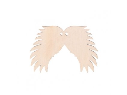 Dřevěná andělská křídla III s dírkou 6 x 4 cm