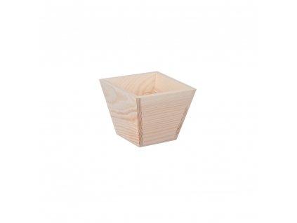 Dřevěný květináč - čtverec malý