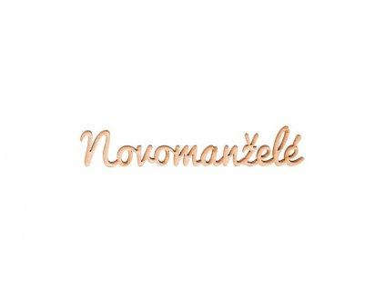 Dřevěný nápis - Novomanželé