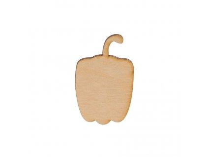 Dřevěná paprika II 6 x 4 cm